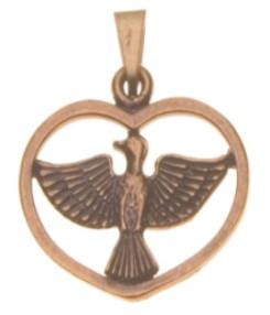 f7f1889d5a7ff Pingente Espírito Santo Coração - OV - Artigos Religiosos Luz de Maria
